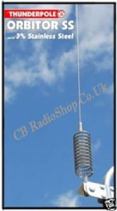 Orbiter Mobile Springer CB Antenna, 100%  Stainless Steel.
